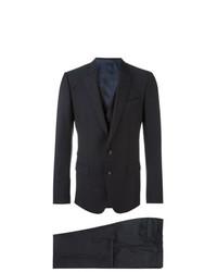 Traje de tres piezas azul marino de Dolce & Gabbana