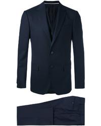 Traje de tres piezas de lana azul marino de Z Zegna