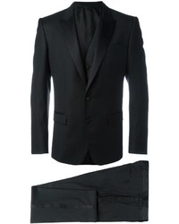 Traje de tres piezas negro de Dolce & Gabbana