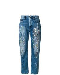 Vaqueros boyfriend estampados azules de Calvin Klein Jeans