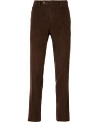 Vaqueros de pana en marrón oscuro de Pt01