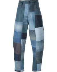 Vaqueros de patchwork azules de Giuliano Fujiwara