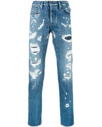 Vaqueros desgastados azules de Emporio Armani