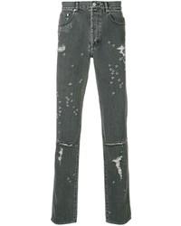 Vaqueros desgastados en gris oscuro de Givenchy