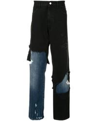 Vaqueros desgastados negros de Raf Simons