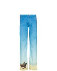 Vaqueros estampados en turquesa de Calvin Klein Jeans Est. 1978