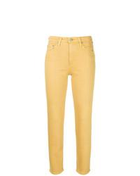 Vaqueros pitillo amarillos de AG Jeans