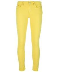 Vaqueros pitillo amarillos de Dondup