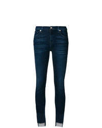 Vaqueros pitillo azul marino de 7 For All Mankind