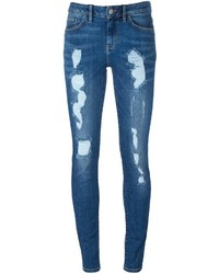 Vaqueros pitillo de algodón azules de Tommy Hilfiger