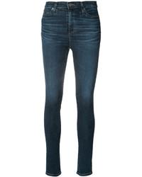 Vaqueros pitillo de algodón en verde azulado de AG Jeans