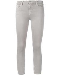 Vaqueros pitillo de algodón grises de J Brand