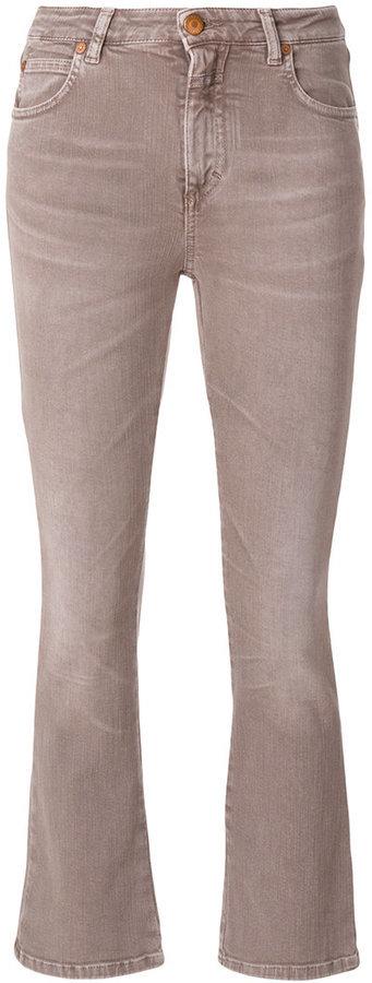 Vaqueros pitillo de algodón marrón claro de Closed