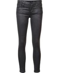 Vaqueros pitillo de algodón negros de AG Jeans