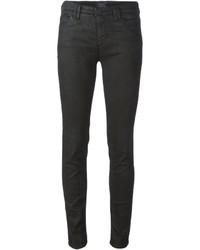 Vaqueros pitillo de cuero negros de Armani Jeans