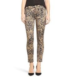 Vaqueros pitillo de leopardo marrón claro