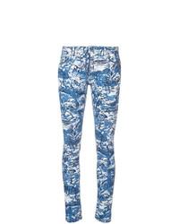 Vaqueros pitillo estampados azules de Off-White