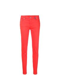 Vaqueros pitillo rojos de Versace Jeans