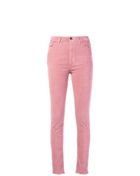 Vaqueros pitillo rosados de Pinko