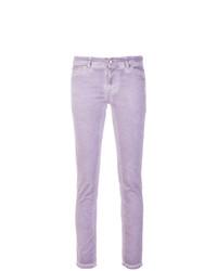 Vaqueros pitillo violeta claro de Twin-Set