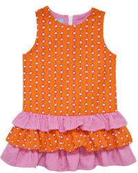Vestido a lunares naranja