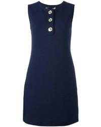 Vestido acolchado azul marino de Love Moschino