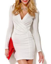 Vestido Ajustado Blanco de Choies