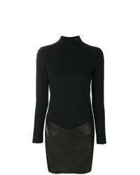 Vestido ajustado de cuero negro de Barbara Bui