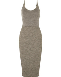 Vestido ajustado de lana gris