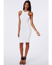 Vestido ajustado de punto blanco