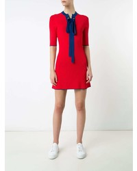 Vestido ajustado de punto rojo de Misha Nonoo