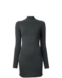 Vestido ajustado en gris oscuro de Dion Lee