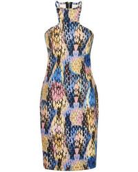 Vestido ajustado estampado en multicolor