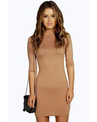 Vestido ajustado marrón claro