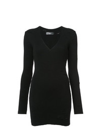 Vestido ajustado negro de Amiri