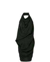 Vestido ajustado negro de Rick Owens