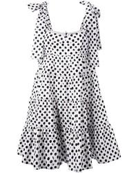Vestido amplio a lunares en blanco y negro de Dolce & Gabbana
