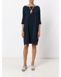 Vestido amplio azul marino de Aspesi