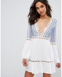 Vestido amplio bordado blanco