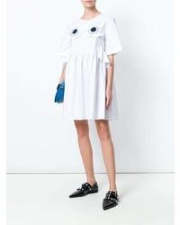 Vestido amplio bordado blanco de Vivetta