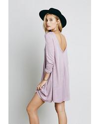 Vestido amplio violeta claro