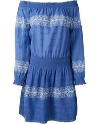 Vestido azul de Tory Burch