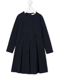 Vestido bordado azul marino de Il Gufo