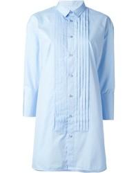 Vestido camisa celeste original 10215489