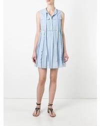 Vestido camisa celeste de N°21