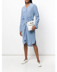 Vestido camisa celeste de Roberta Furlanetto
