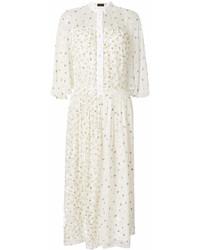 Vestido camisa con print de flores blanca de Joseph