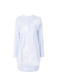 Vestido camisa de rayas verticales blanca de Ermanno Scervino