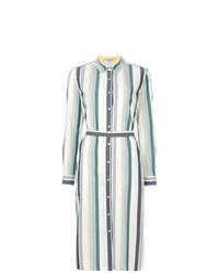 Vestido camisa de rayas verticales blanca de GUILD PRIME