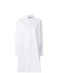 Vestido Camisa de Rayas Verticales Blanca de Hache